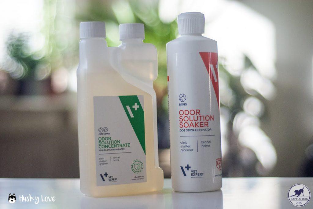 Preparaty Dog Odor Eliminator oraz Kennel Odor Eliminator firmy VetExpert